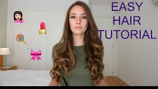 loose curls using hair straightener   tutorial