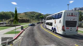 Autobus del Real Madrid en GTA V