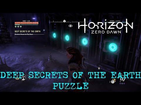 Horizon Zero Dawn - Deep Secrets Of The Earth Puzzle / RESTORE POWER TO THE DOOR