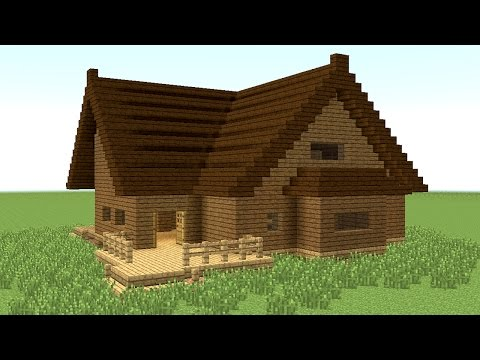 how to make a small wooden modern house in minecraft