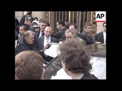 FRANCE:CUBAN PRESIDENT FIDEL CASTRO VISIT