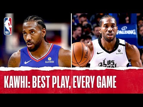 Kawhi Leonard Best Plays From Every Game!