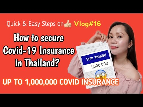 HOW TO GET COVID19 INSURANCE IN THAILAND|EASY STEPS|VLOG16