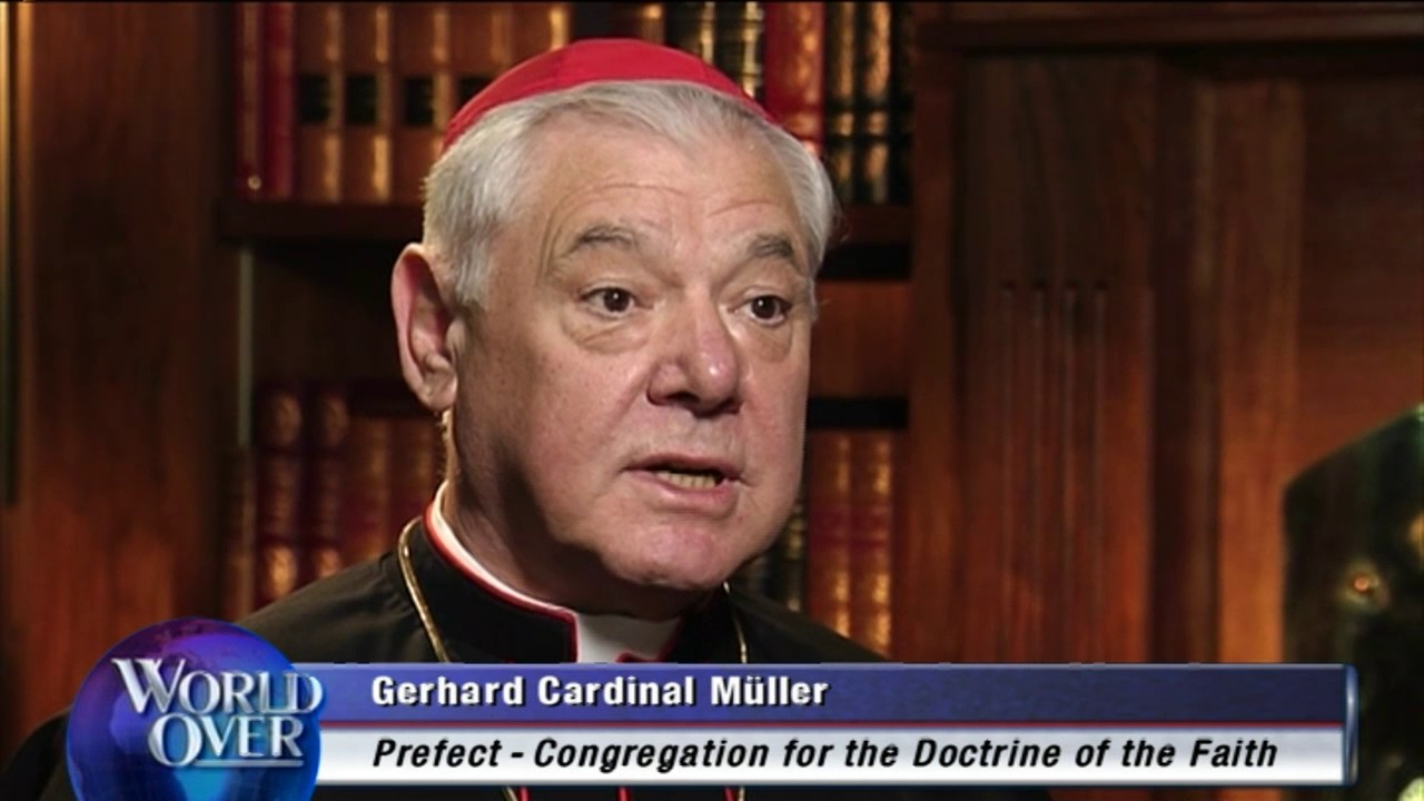 Image result for Photos of Cardinal Muller, speaking to Raymond Arroyo