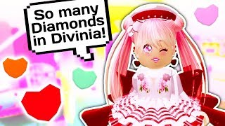 WIE ZU GET LOTS OF FREE DIAMONDS ON DIVINIA 💎 / / Roblox Royale High School
