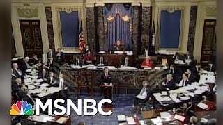 Watch: Republicans Demand More Impeachment Witnesses, When Clinton Was On Trial | MSNBC