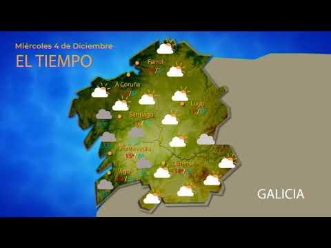 Previsión meteorológica Ourense 4 diciembre 2019