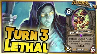 TURN 3 LETHAL! | Hearthstone Rise of Shadows moments