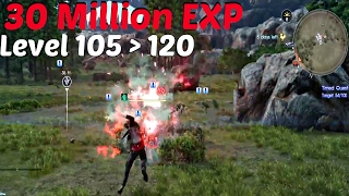 FINAL FANTASY XV - 30 Million EXP! Level 105 To Level 120 | Update 1.05 & Booster Pack+ (PS4 Pro)