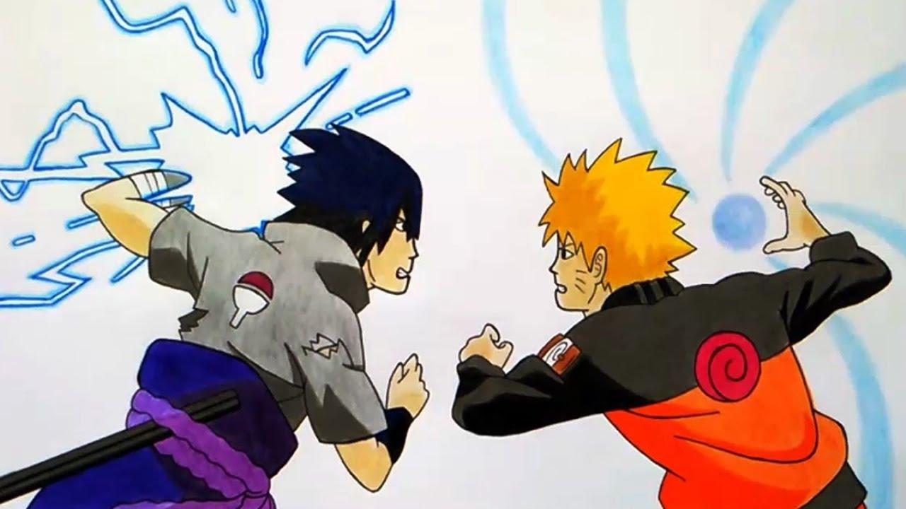 Drawing Naruto Vs Sasuke Final Battle Naruto Vs Sasuke Batalla Final