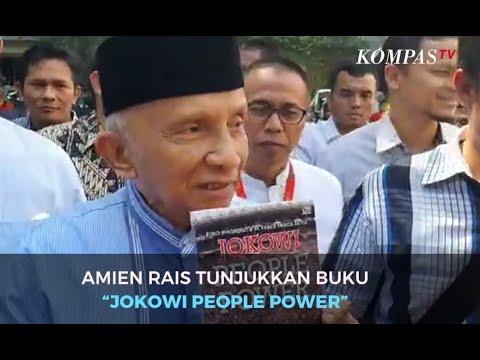 "Diperiksa Polisi, Amien Rais Tunjukkan Buku ""Jokowi People Power"""