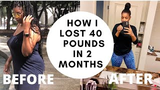 HOW TO LOSE WEIGHT FAST! 40 Pounds In 2 MONTHS! (NO EXERCISE)