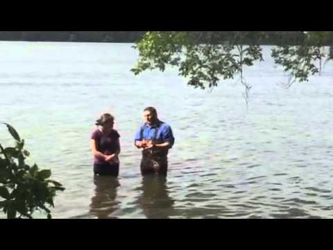 Believers baptism in the lake