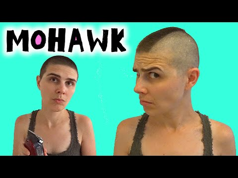 Baby Mohawk Haircut On A Girl Punk Rock Hair On A Woman With