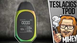 Teslacigs TPOD Pod System 500mAh. Тугая затяжка, тусклый экран. 🎷🎻🎹🎸