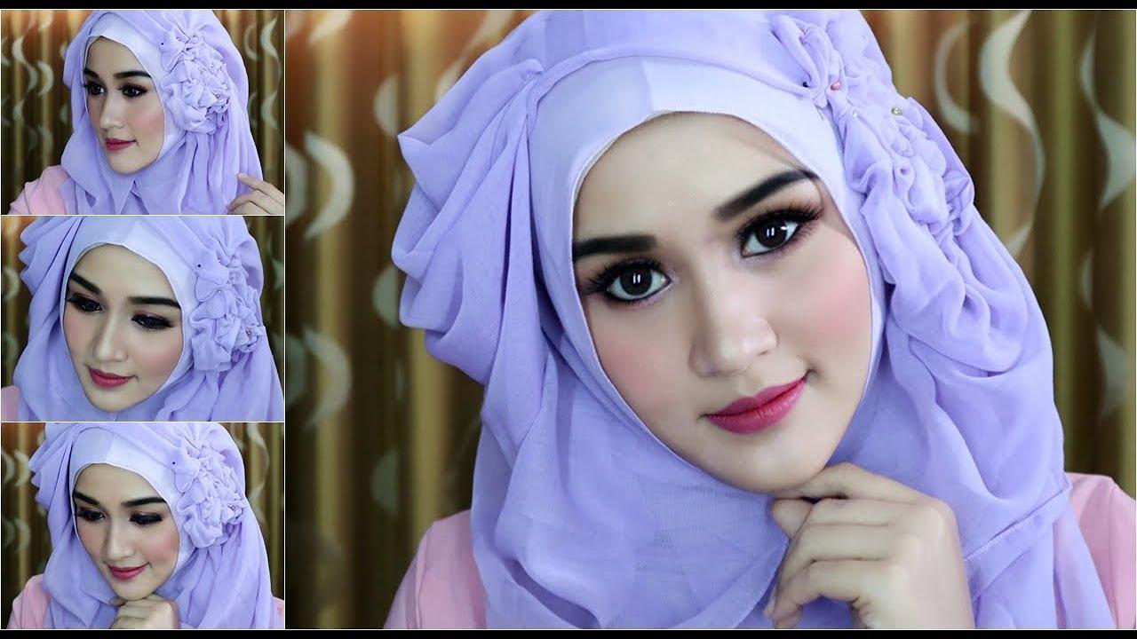05 Tutorial Hijab Segi Empat Dengan Beragam Pariasi Untuk Pesta Wedding Wisuda Dll Youtube