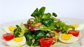Микс-салат с тунцом. Insalata mista con tonno. Итальянская кухня