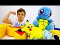 #Покемоны! Видео для детей с игрушками. Эволюция покемонов и ИгроБой Глеб!