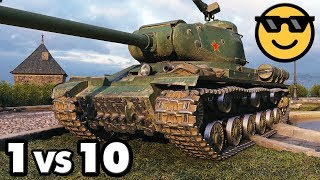 IS-2 - 14 Kills - 1 vs 10 - World of Tanks Gameplay