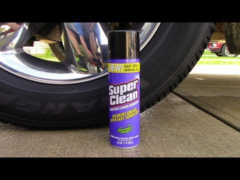 Very  Easy and Effective Way to Clean Tires! Super Clean Aerosol!