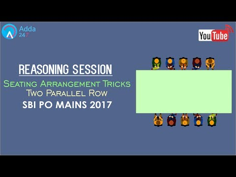 Reasoning | Seating Arrangement Tricks | Two Parallel Row | Online Coaching for SBI PO MAINS, IBPS