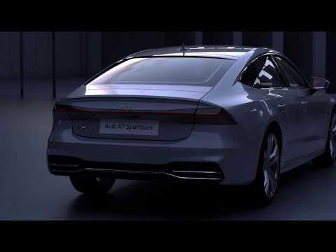 Audi A7 2017 Lichtdesign animation