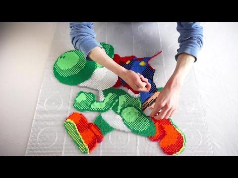 Super Mario: YOSHI & MARIO - Hama Beads / Perler Beads