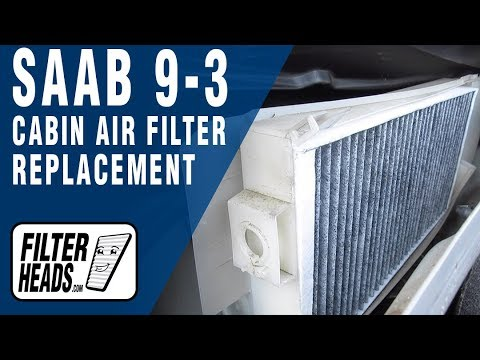 How to Replace Cabin Air Filter 2008 Saab 9-3