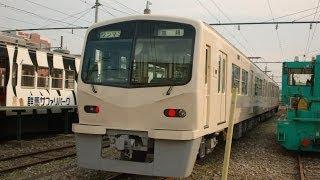 上信電鉄新型車両(7000形)構内試運転その1/2013.10.31