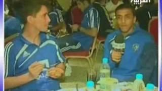 الشلهوب يتحدث مع نيفيز باللغه البرتغاليه