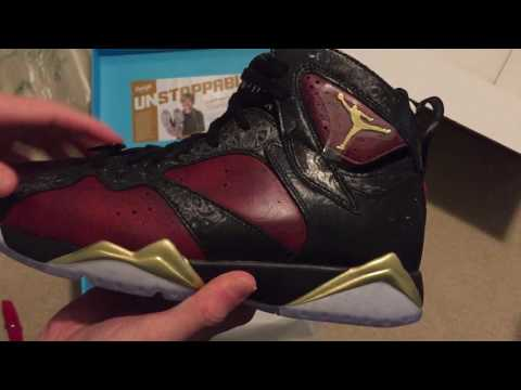 Air Jordan 7 Retro Doernbecher Sneaker Unboxing