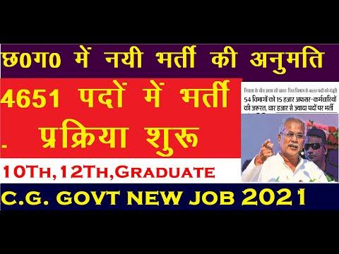 छत्तीसगढ़ की 6 नई भर्तियां|CG Latest Govt Job Vacancy 2021|CG Job News Today,CG Rojgar Samachar 2021