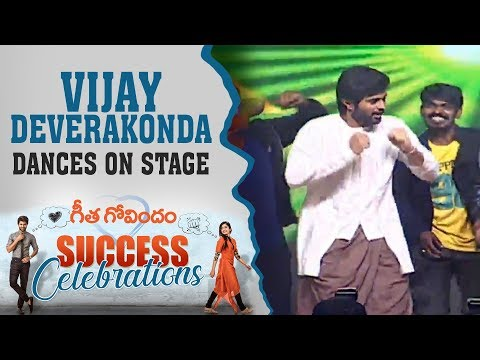 Vijay Deverakonda Dances On Stage For 'What The Life' Song At Geetha Govindam Success Celebrations