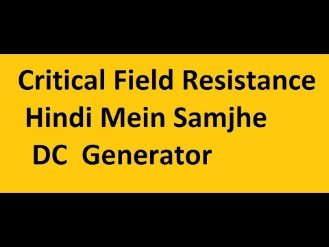 Critical Field Resistance !! Most IMportant Concept To Understand !!