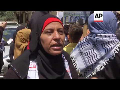 Palestinians in Beirut protest against US embassy relocation in Israel