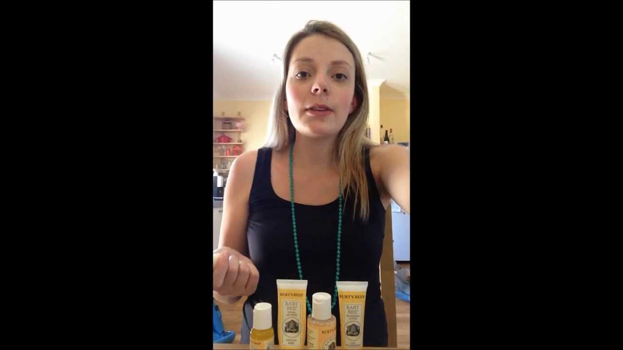 burts bees baby bee getting started kit review youtube