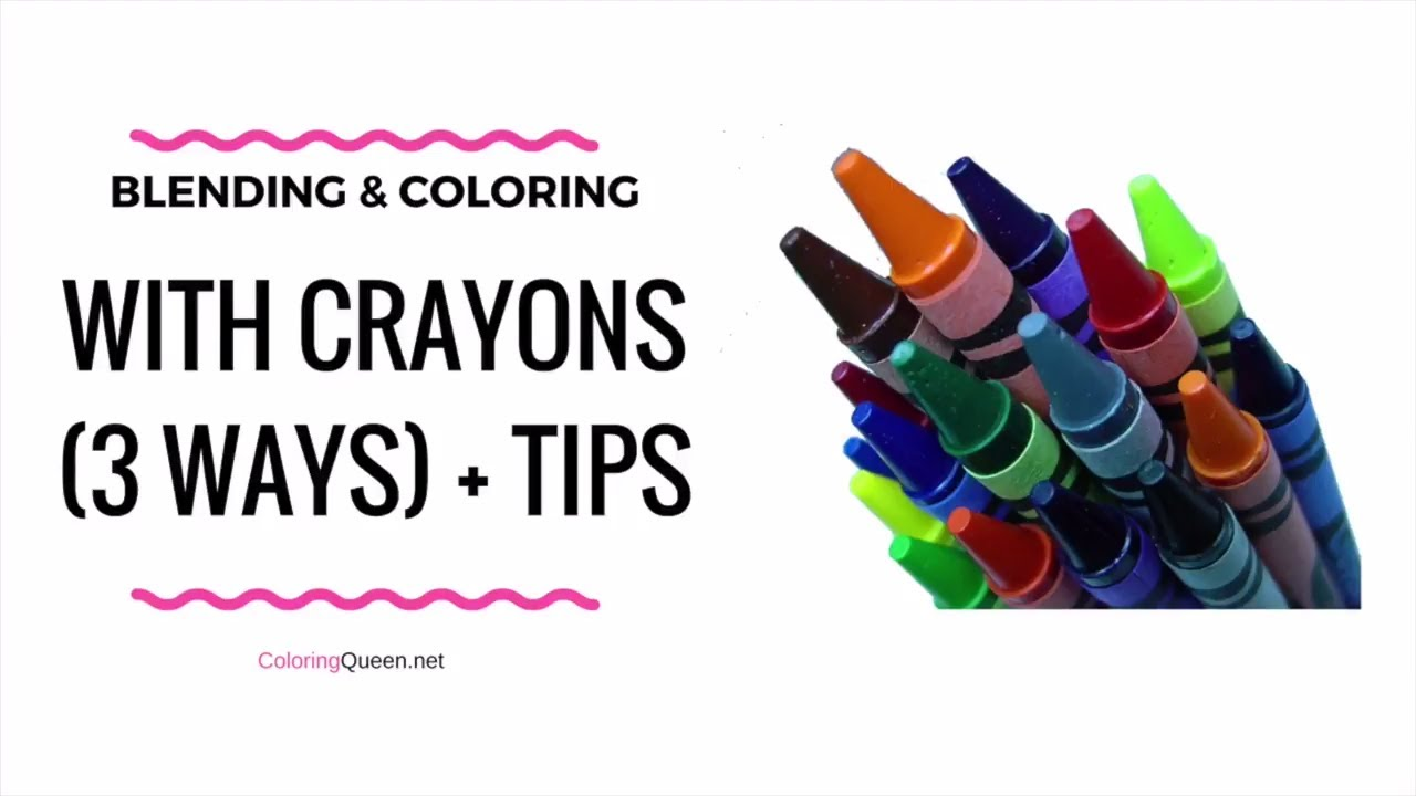 blending coloring with crayons youtube