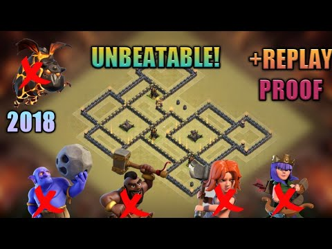 2018 NEW TH9 ULTIMATE WAR BASE! DEFENDED AGAINST TH10! +REPLAYS PROOF! Clash Of Clans