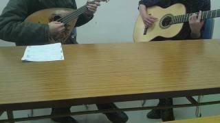 マンドラとギターによるはっぴいえんどの「風来坊」です。