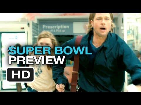 World War Z Official Super Bowl Preview (2013) - Brad Pitt Movie HD