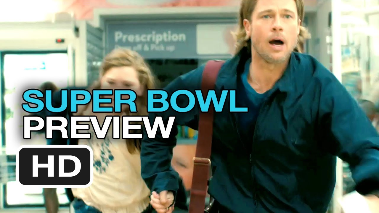 World War Z Official Super Bowl Preview (2013) - Brad Pitt Movie HD