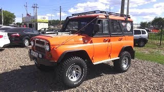 UAZ 34514 with Toyota engine 1KZ-TE. Start Up, Engine, and In Depth Tour.