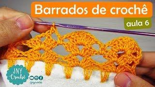 Bicos de crochê simples, fácil e rápido para iniciantes | aula 6 - JNY Crochê thumbnail