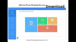 Download WhatsApp Massage/Data Recovery Software For Widows
