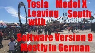 Tesla Model X Leaving South w Software V9 Day 1