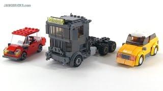 Custom LEGO semi truck & cars Dec. 11, 2014