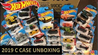 Hot Wheels 2019 C Case Unboxing - Very Nice Case!!