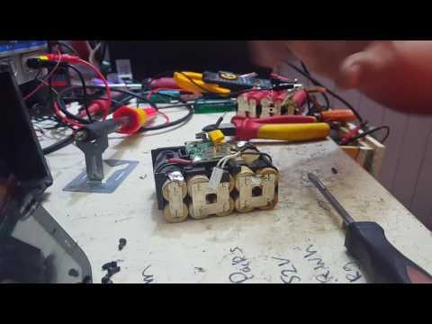 Rebuilding Makita BL1830 18v li-ion  lxt batterys repacking with sanyo cells