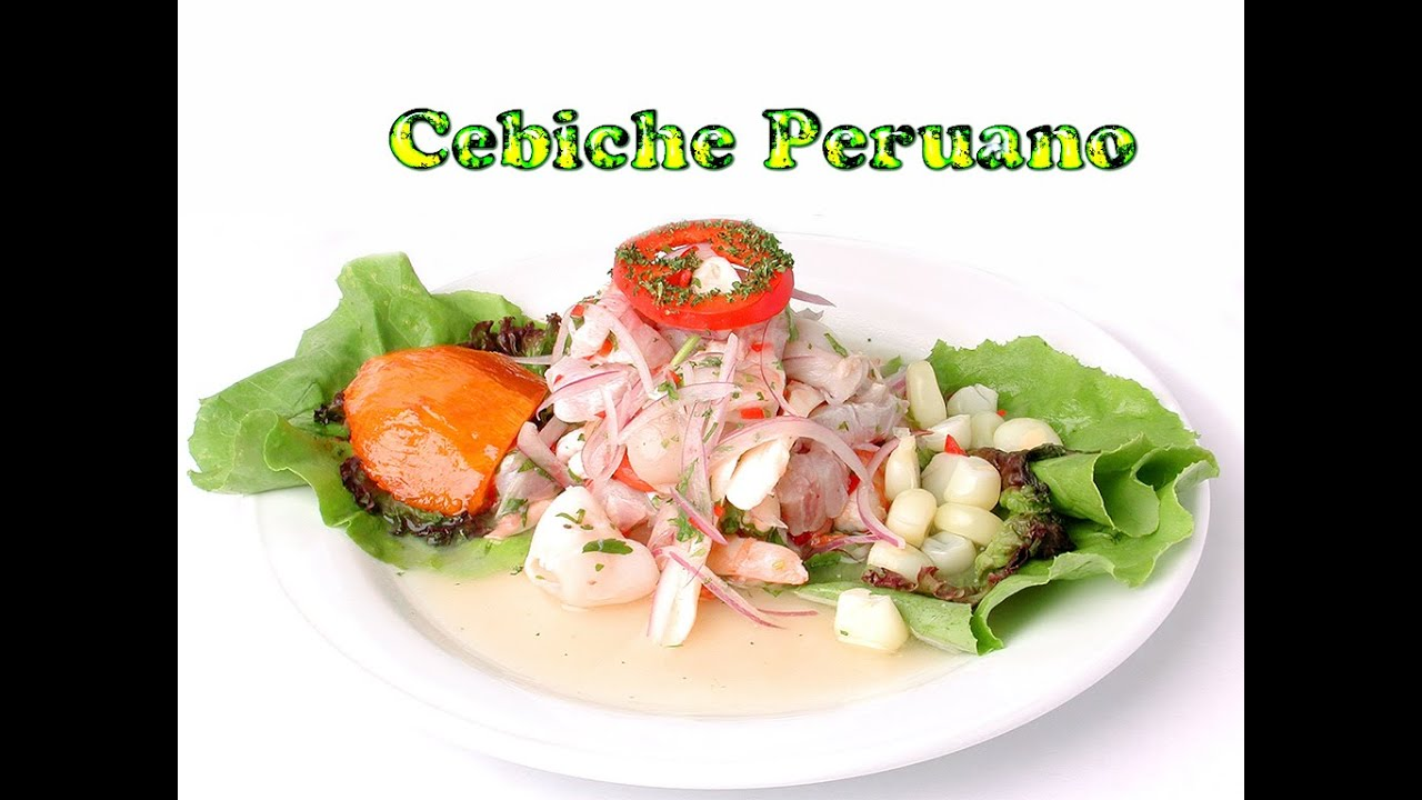 What are the ingredients of ceviche Peruano?
