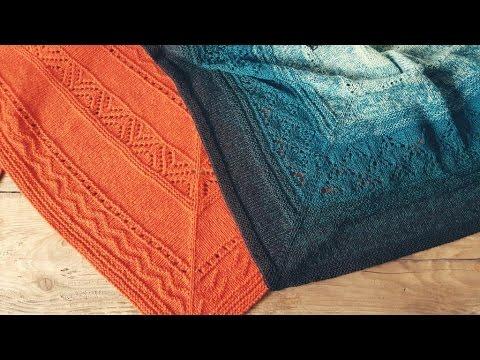 Моя любимая шаль Замерзшие листья - Вязание - Страна Мам